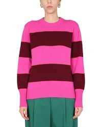 Paul Smith Oversize Fit Striped Wool Jumper - Multicolour