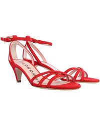 Philosophy Di Lorenzo Serafini Suede Sandals With Bow - Red