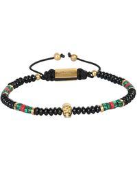 Northskull Macramè Skull Bracelet - Black