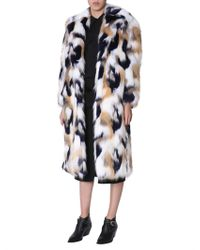 Givenchy - Oversized Patchwork-effect Faux Fur Coat - Lyst