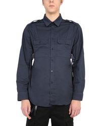 Helmut Lang Men's K06hm504zn0 Blue Other Materials Shirt