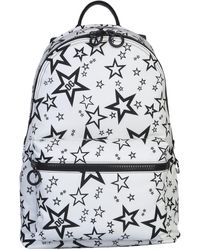 Dolce & Gabbana Volcano Nylon Backpack With Rubberized Logo - White