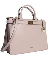 MICHAEL Michael Kors Medium Tatiana Leather Handbag - Pink