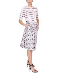 Boutique Moschino Striped Cotton Knit Cardigan - Pink