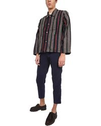 YMC Striped Cubist Wool Blend Jacket - Multicolour