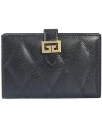 Givenchy Medium Gv3 Leather Wallet - Black