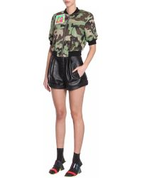 Jeremy Scott - Camouflage Bomber Jacket With Patches - Lyst