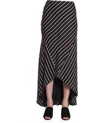 Haider Ackermann Long Striped Skirt - Black