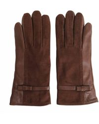 Tru Trussardi Nappa And Suede Leather Gloves - Natural