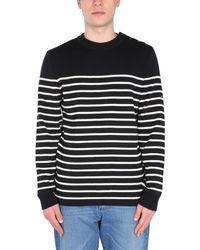 """Saint James """"galiote V R"""" Wool Sweater With Stripe Pattern - Blue"""