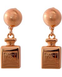 Moschino - Metal Earrings With Clip - Lyst