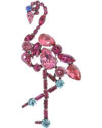 Marc Jacobs Flamingo Brooch - Pink