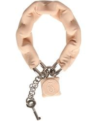"MM6 by Maison Martin Margiela - Lined Chain Bracelet With ""6"" Padlock - Lyst"