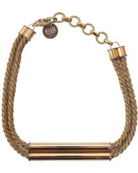 Lanvin - Brass Necklace With Application - Lyst