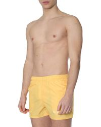 Givenchy Bathroom Boxer Costume With Logo Print - Yellow