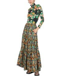 La DoubleJ Gumball Skirt With Deco Print - Green