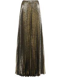 Saint Laurent Long Pleated Skirt - Metallic