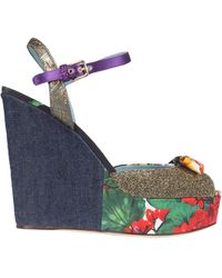 Dolce & Gabbana Wedge Sandals - Blue