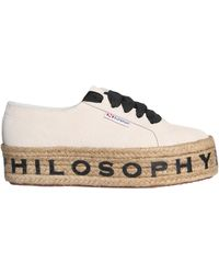 Philosophy Di Lorenzo Serafini Rope Suede Platform Sneakers - White