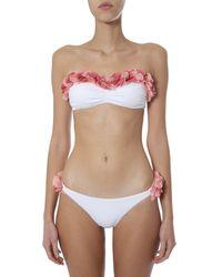 LaRevêche Adele Bandeau Lycra Bikini - White