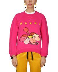 Marni Fuchsia Other Materials Sweatshirt - Pink