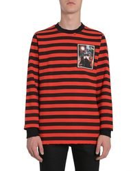 Givenchy Felpa Cuban Fit In Cotone A Righe - Black