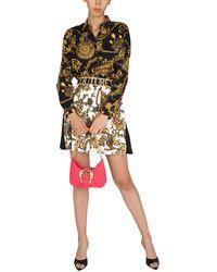 Versace Jeans Couture GONNA PLISSETTATA CON STAMPA BIJOUX BAROQUE - Nero