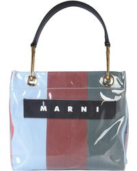 Marni - Glossy Grip Striped Polyamide Tote Bag - Lyst