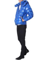 """Duvetica """"enif"""" Quilted Down Jacket With Removable Hood - Blue"""