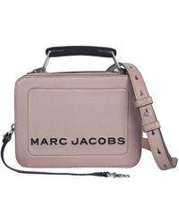 Marc Jacobs BORSA THE TEXTURED BOX MINI IN PELLE MARTELLATA - Multicolore