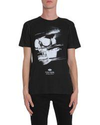 Tom Rebl - T-shirt Girocollo In Cotone Con Stampa Teschio - Lyst