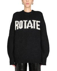 "ROTATE BIRGER CHRISTENSEN ""brandy"" Wool Blend Sweater - Black"