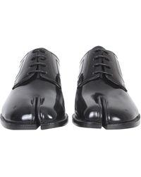 Maison Margiela Leather Lace-up Tabi - Black