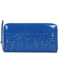 Versace Jeans Couture Shiny Eco Leather Wallet - Blue