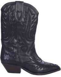 Étoile Isabel Marant Texan Duerto Leather Boots - Black