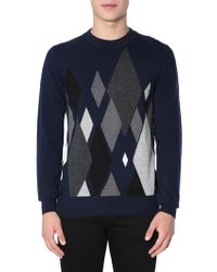 Ballantyne - Cashmere Jumper With Intarsia - Lyst