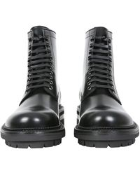DSquared² Leather Boots With Laces - Black