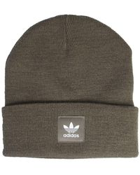 adidas Originals Adicolor Knit Hat With Patch Logo - Green