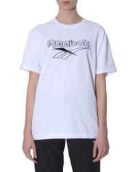 Reebok - Logo Print Jersey T-shirt - Lyst