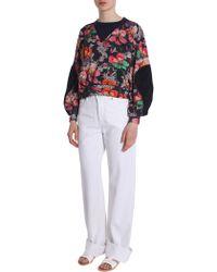 "Isabel Marant - Flower Printed ""zodilon"" Cotton Blend Sweatshirt - Lyst"