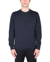 "Woolrich ""luxe"" Cotton Sweatshirt With Logo - Blue"