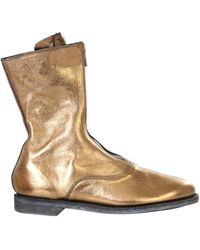 Guidi Zip Boots - Metallic