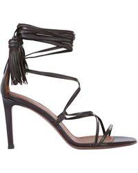 L'Autre Chose Lux Nappa Sandals - Brown