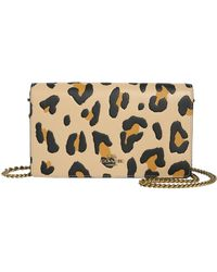 COACH - Leopard Print Leather Crossbody Bag - Lyst