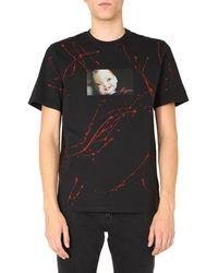 MSGM Crew Neck Cotton Printed T-shirt - Black