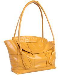 Bottega Veneta Slouch Arco Leather Bag - Yellow
