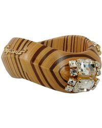 DSquared² - Wooden Bracelet With Jewel Appliqués - Lyst