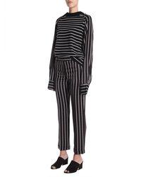 Haider Ackermann Striped Wool And Viscose Sweater - Black