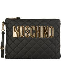 Moschino Other Materials Pouch - Black