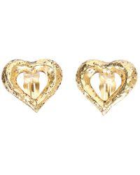 Saint Laurent Clip Earrings - Metallic